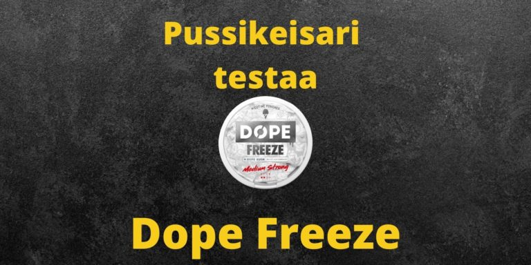 Arvostelussa Dope Freeze