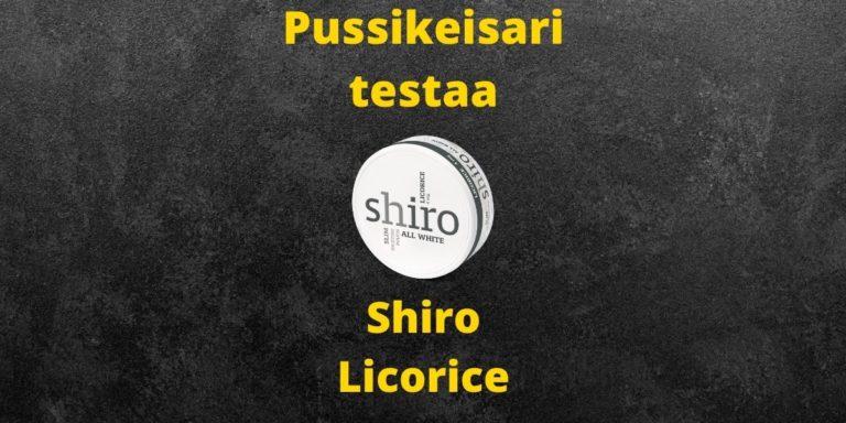 Shiro – Licorice nikotiinipussi arvostelu