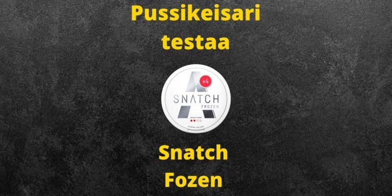 Snatch Frozen nikotiininuuska arvostelu