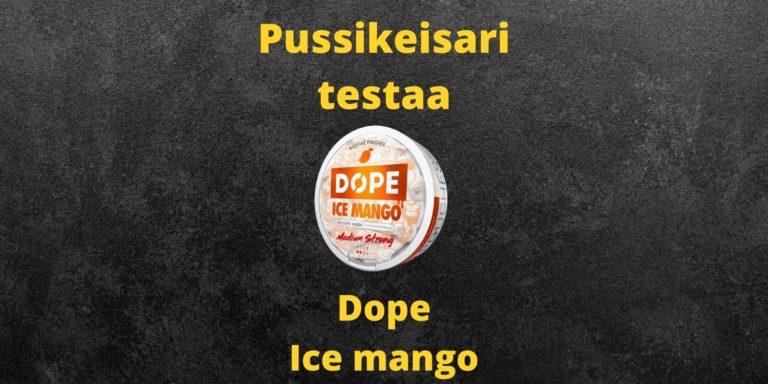 Dope ice mango nikotiininuuska arvostelu