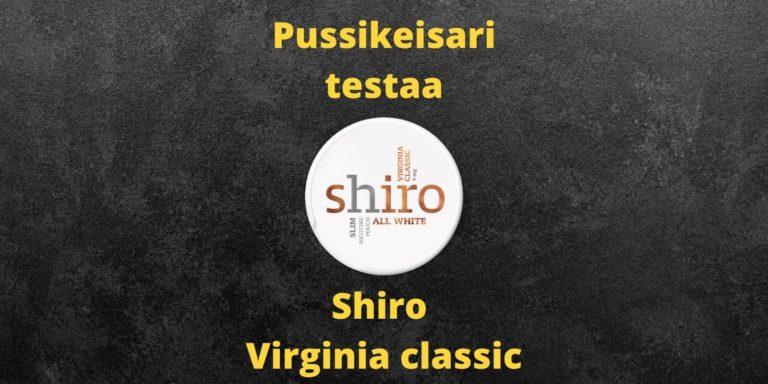 Shiro Virginia classic nikotiininuuska arvostelu