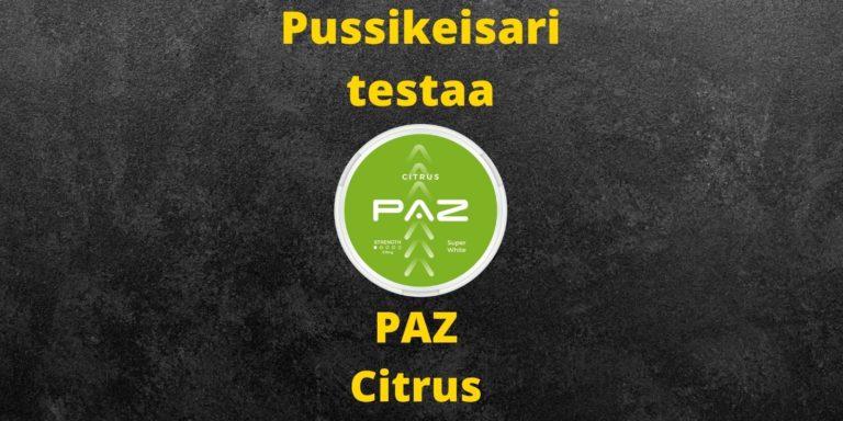 PAZ – Citrus nikotiininuuska  arvostelu