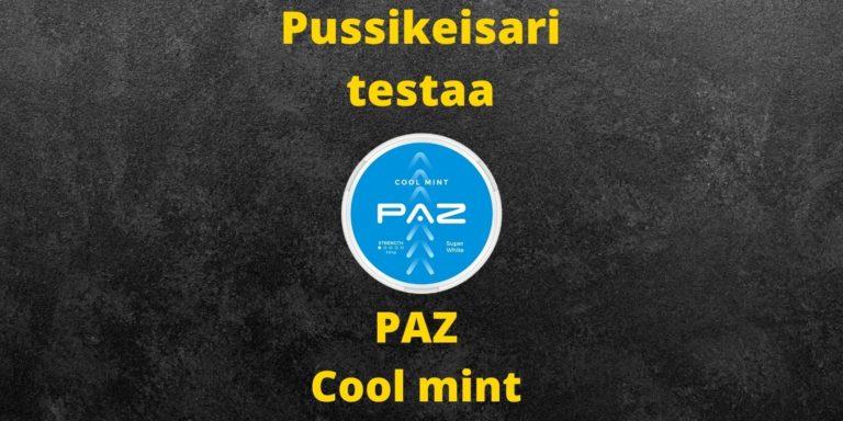 Paz – Cool mint nikotiininuuska  arvostelu