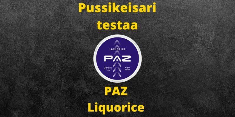PAZ – Liquorice nikotiininuuska arvostelu