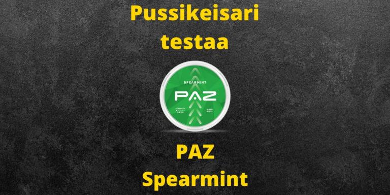 PAZ – Spearmint nikotiininuuska arvostelu