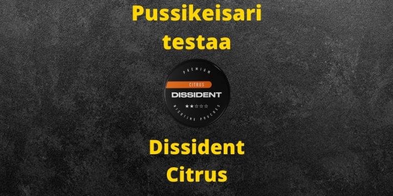 Dissident – Citrus nikotiinipussi arvostelu