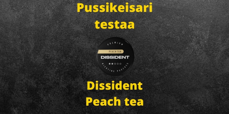 Dissident – Peach tea nikotiinipussi arvostelu